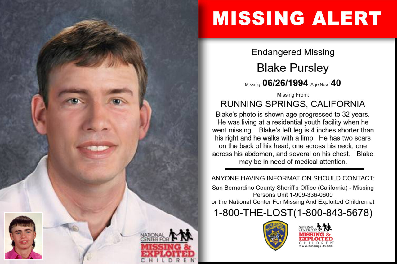 BLAKE_PURSLEY missing in California