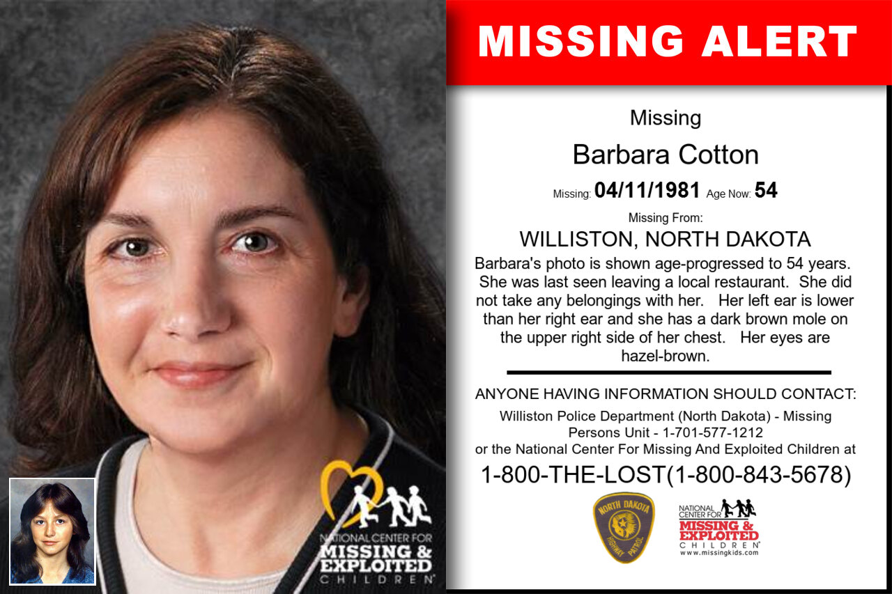 BARBARA_COTTON missing in North_Dakota