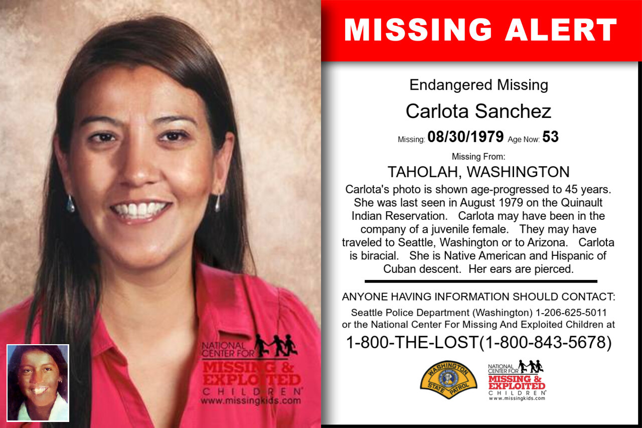 Carlota_Sanchez missing in Washington
