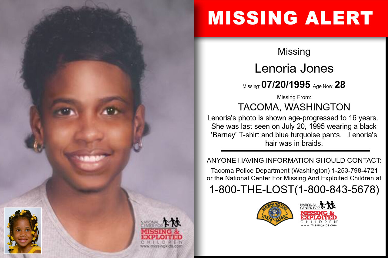 LENORIA_JONES missing in Washington