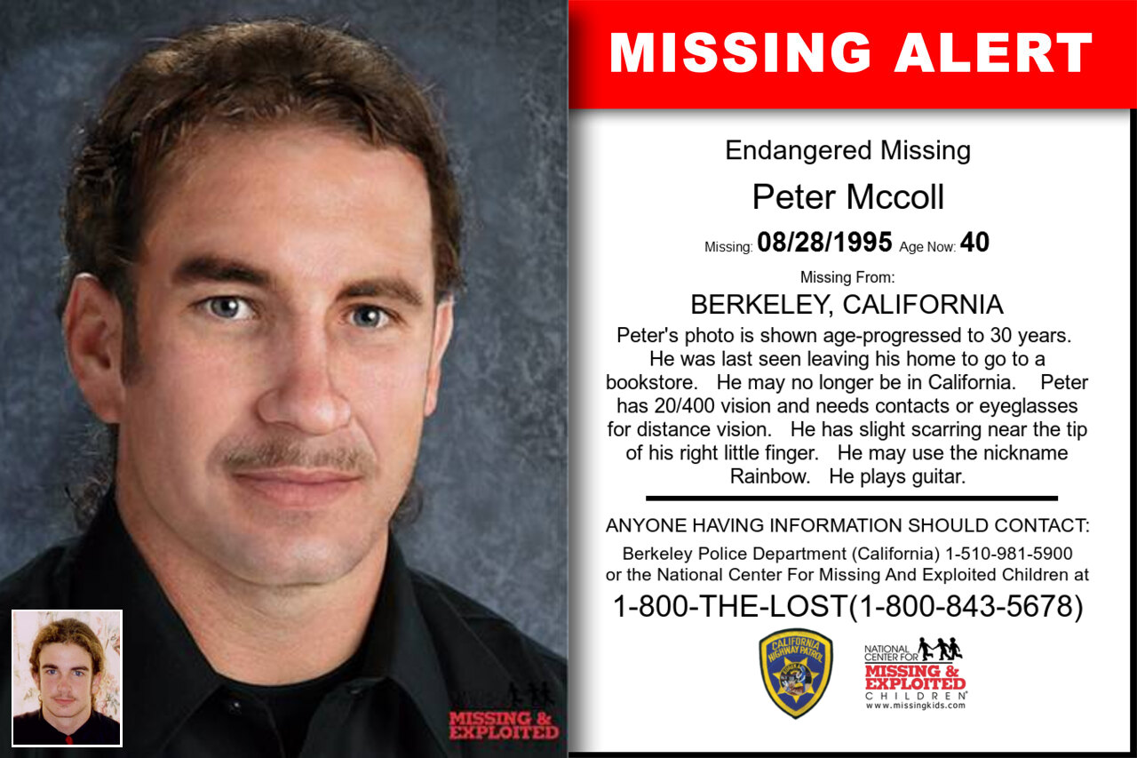 Peter_Mccoll missing in California