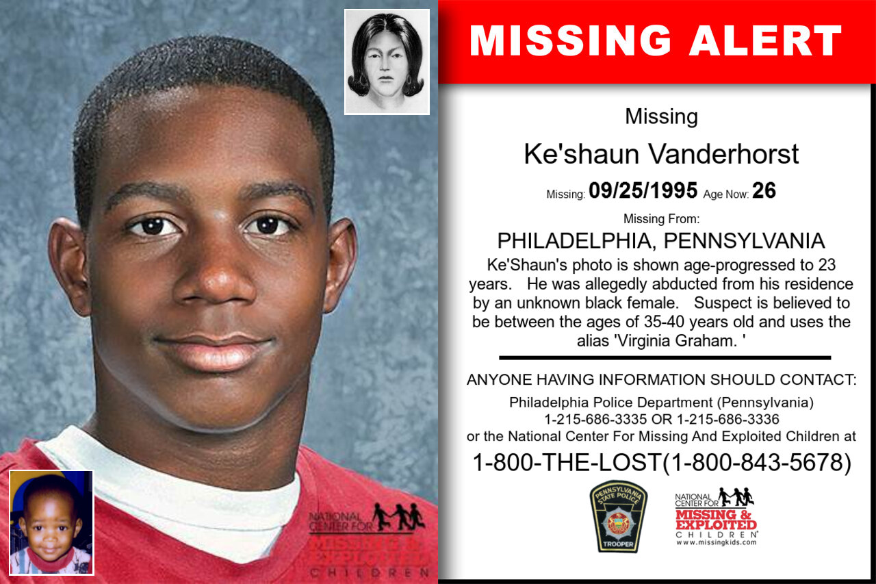 KE'SHAUN_VANDERHORST missing in Pennsylvania