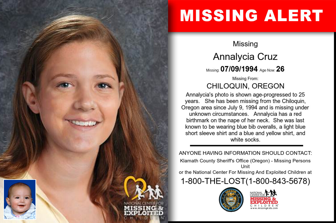 ANNALYCIA_CRUZ missing in Oregon