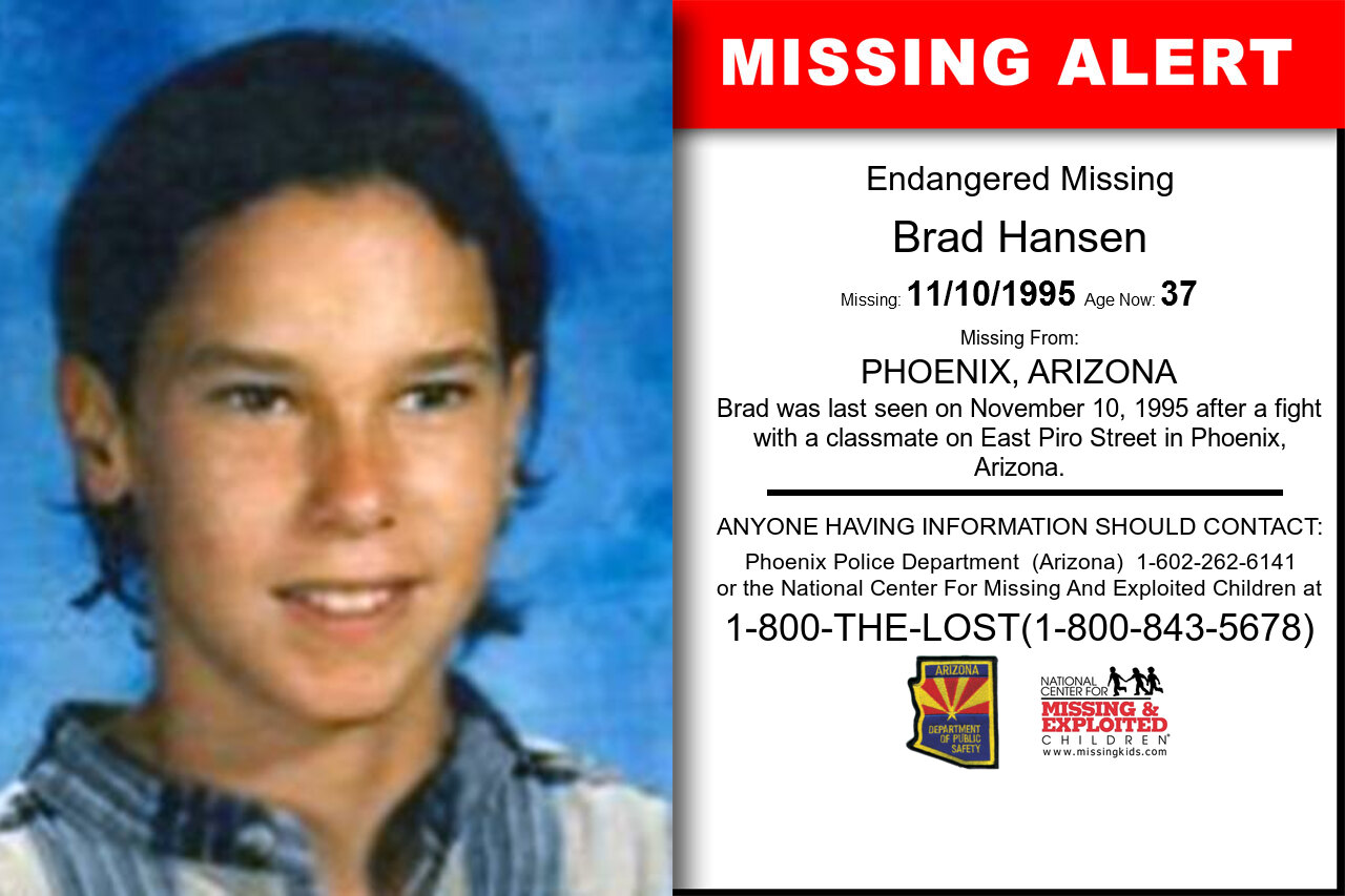 BRAD_HANSEN missing in Arizona