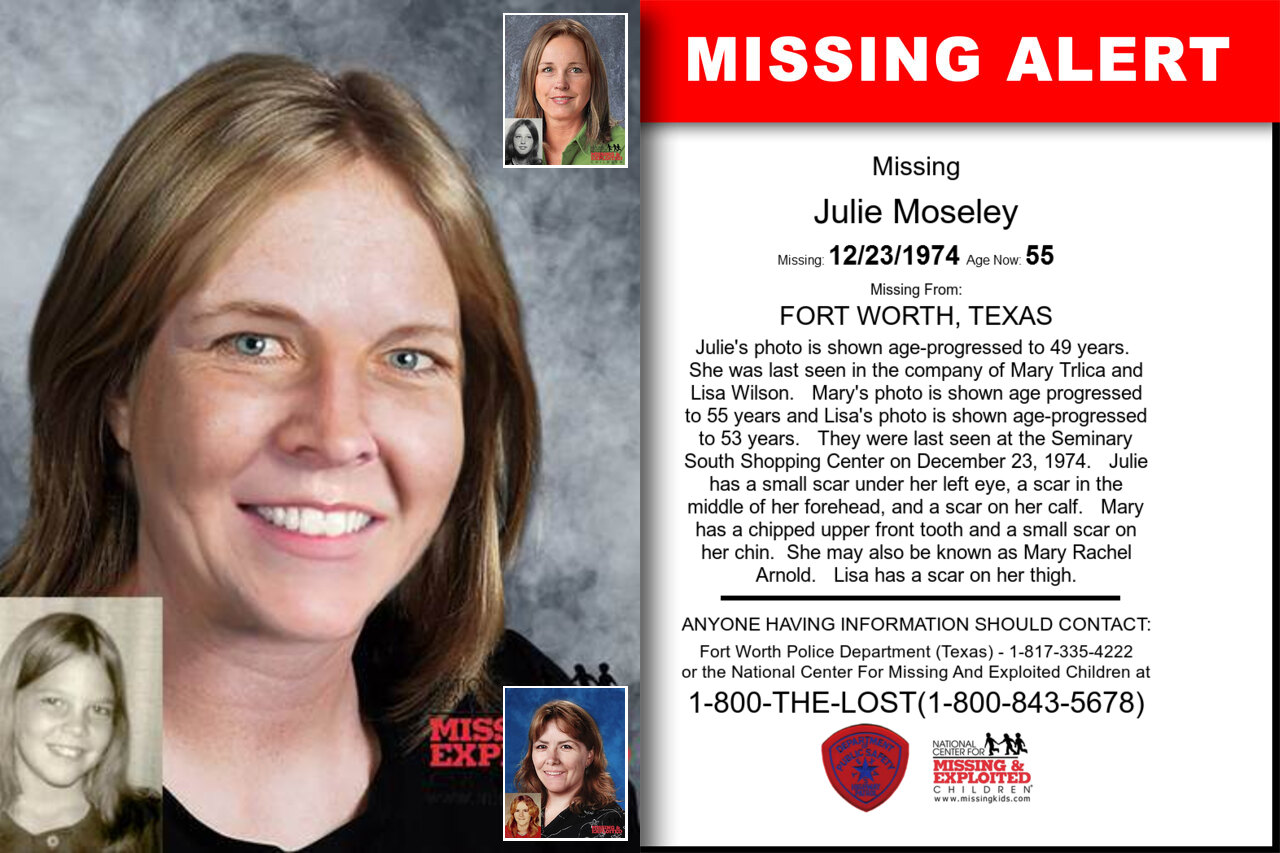 JULIE_MOSELEY missing in Texas