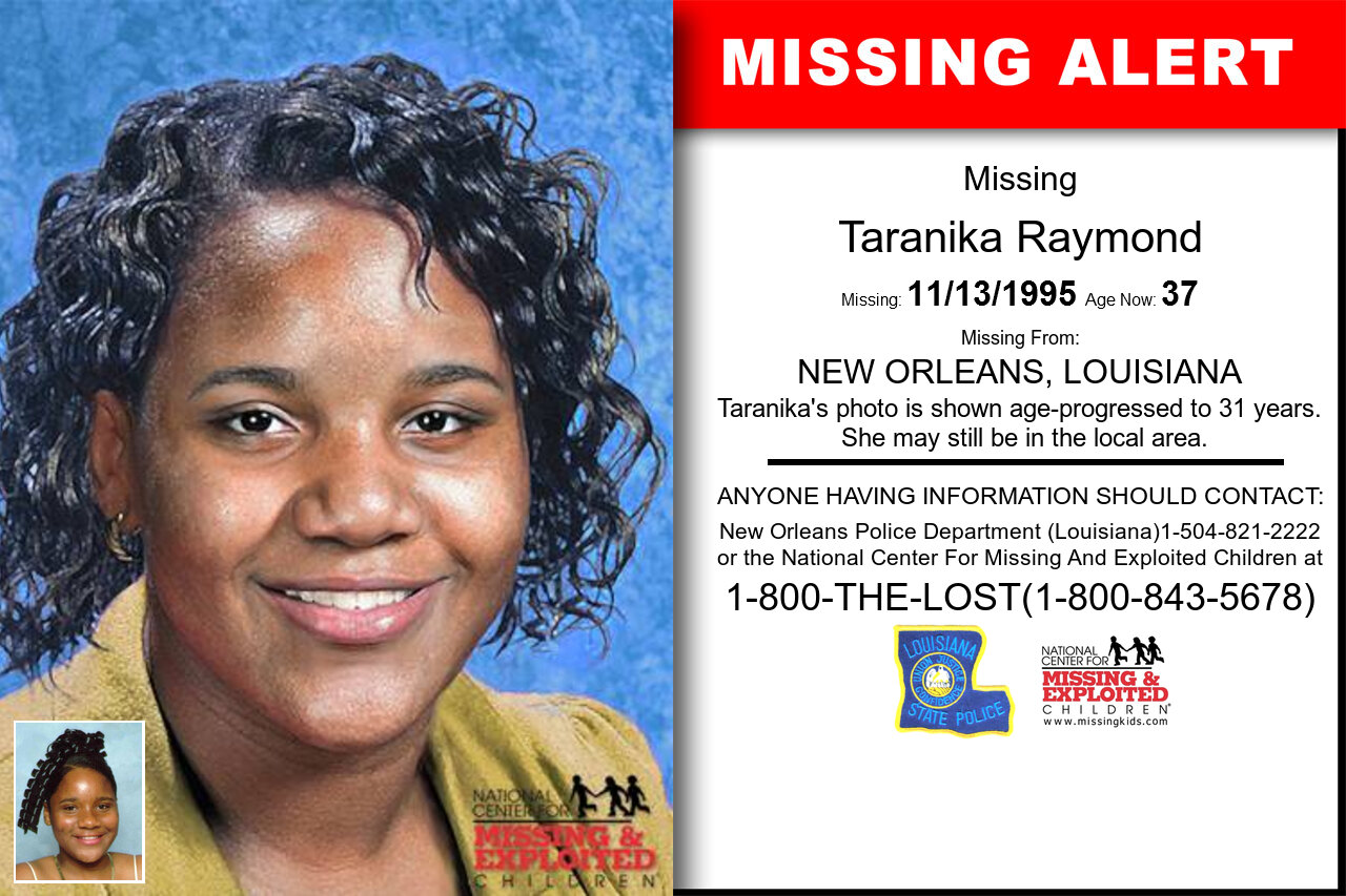 TARANIKA_RAYMOND missing in Louisiana