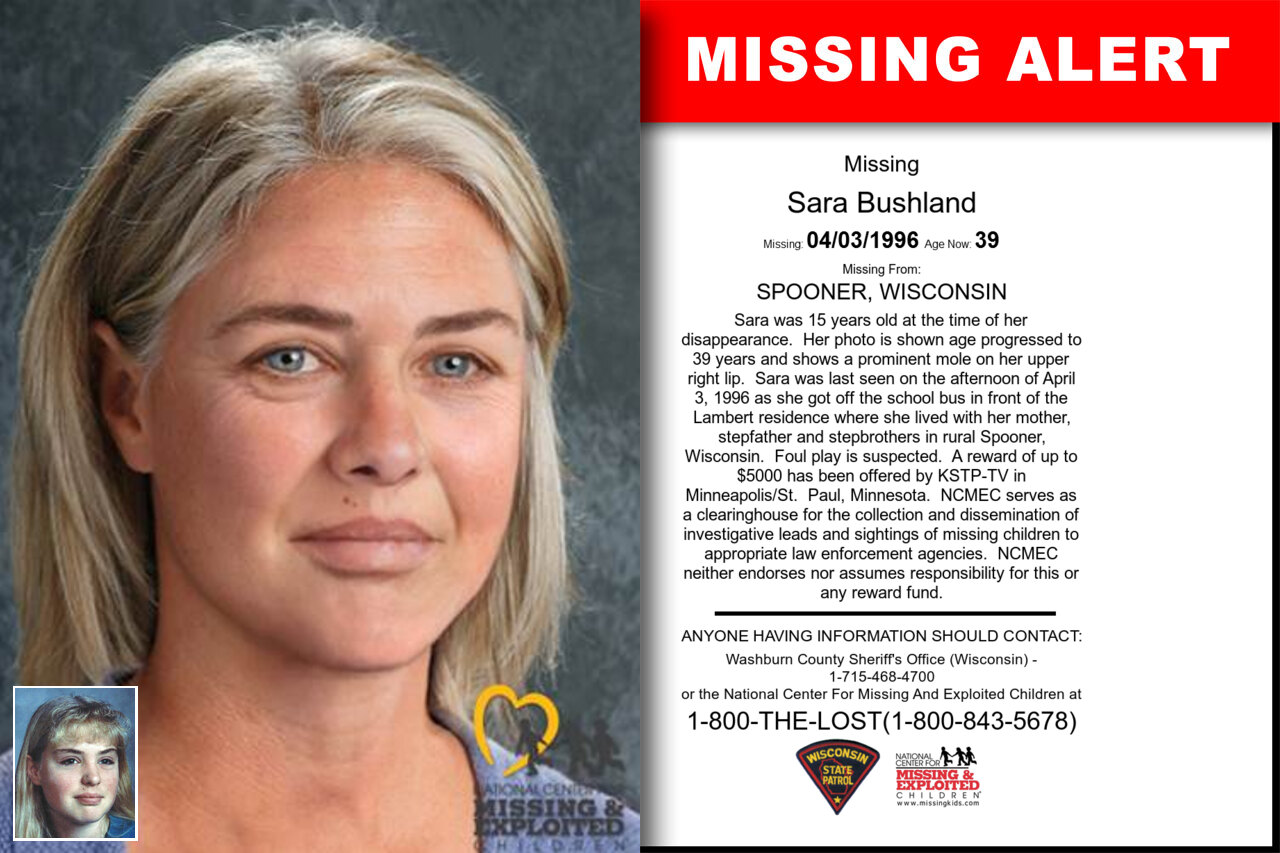 Sara_Bushland missing in Wisconsin