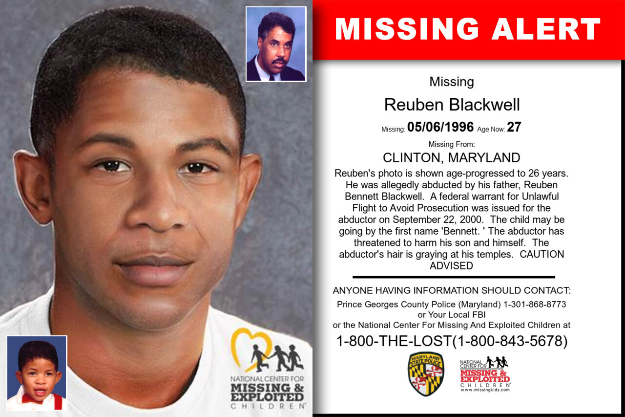 REUBEN_BLACKWELL missing in Maryland