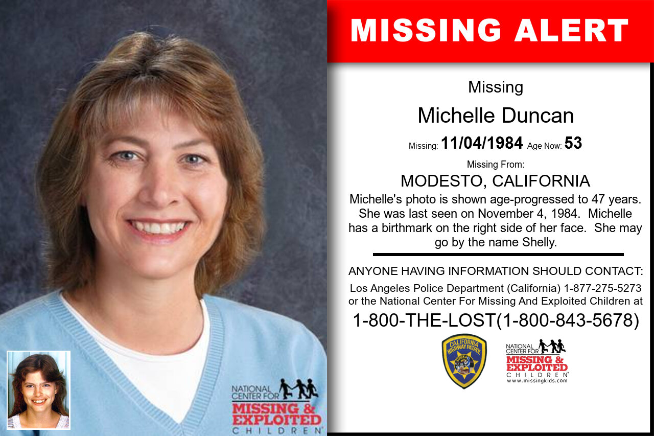 MICHELLE_DUNCAN missing in California