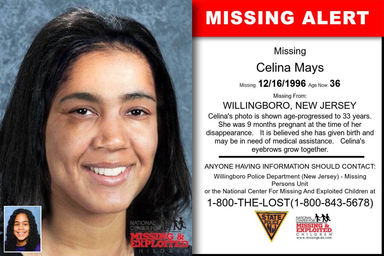 Celina_Mays missing in New_Jersey