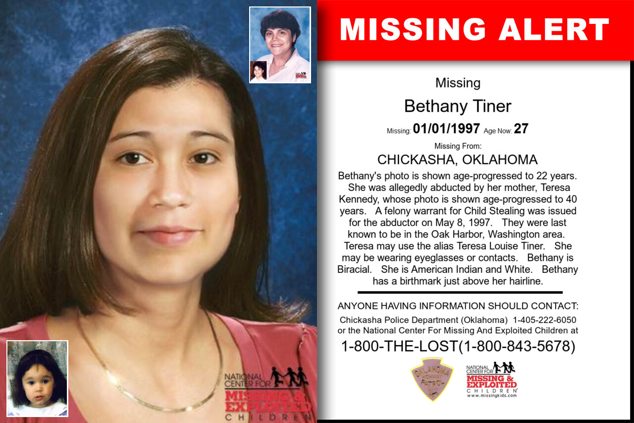 BETHANY_TINER missing in Oklahoma