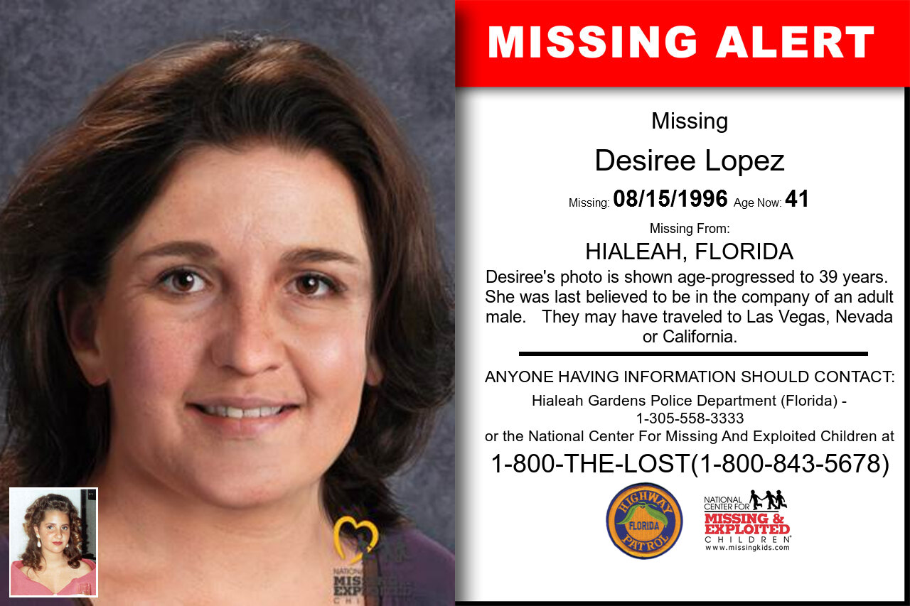 DESIREE_LOPEZ missing in Florida