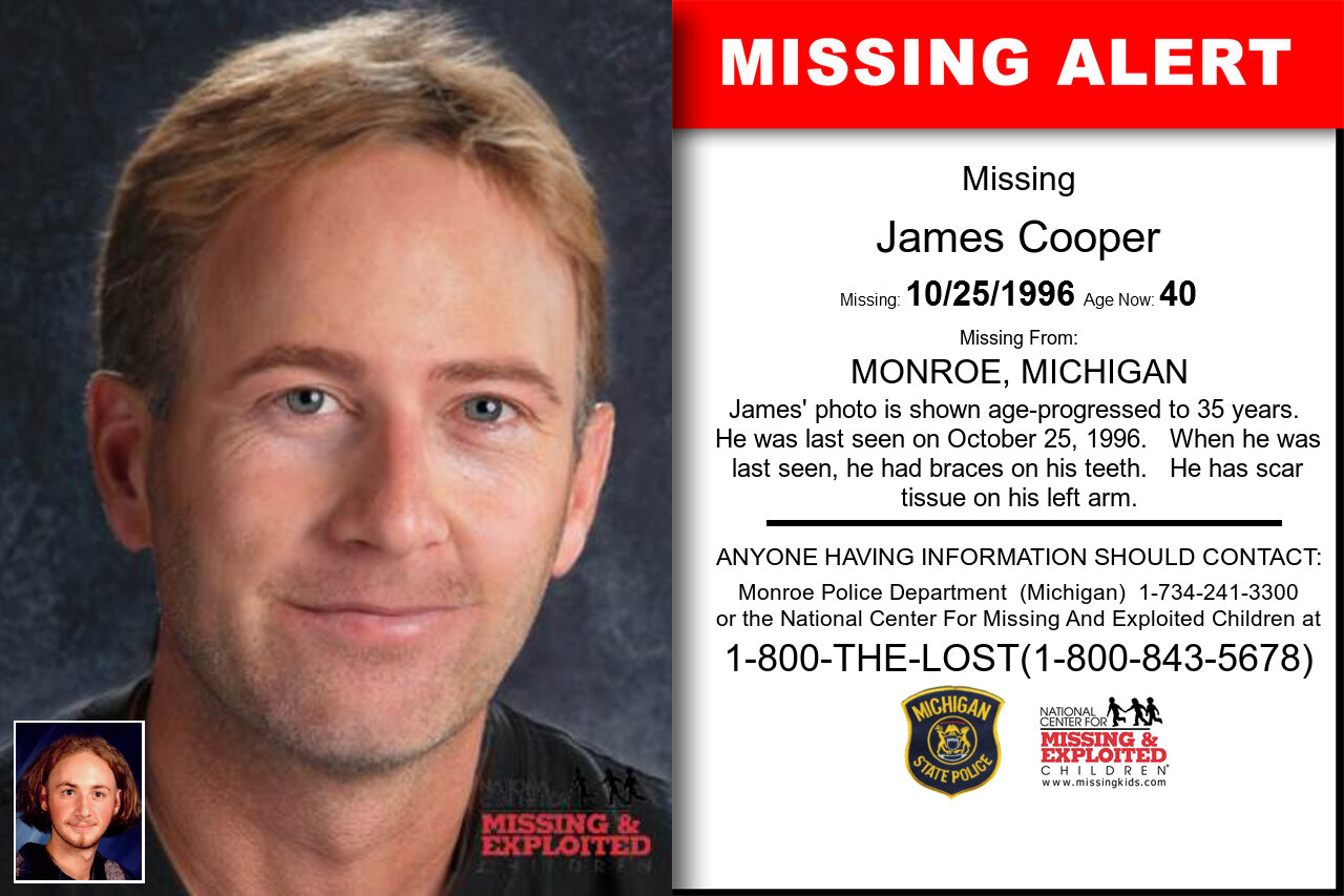 JAMES_COOPER missing in Michigan