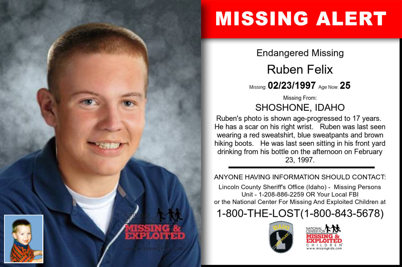 Ruben_Felix missing in Idaho