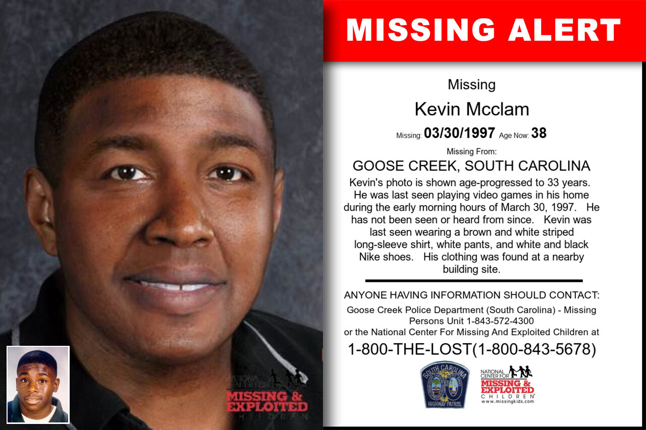 KEVIN_MCCLAM missing in South_Carolina