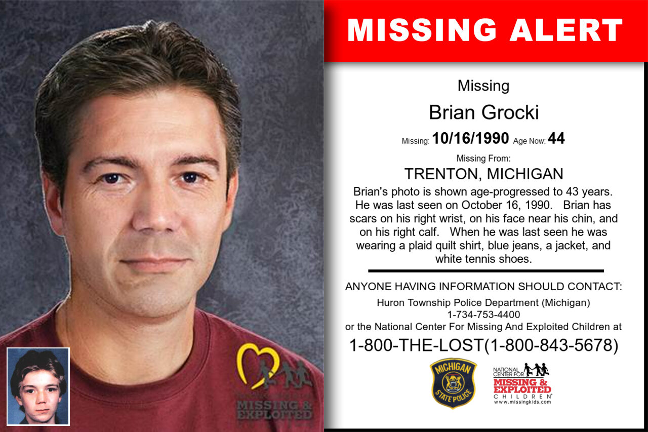 BRIAN_GROCKI missing in Michigan