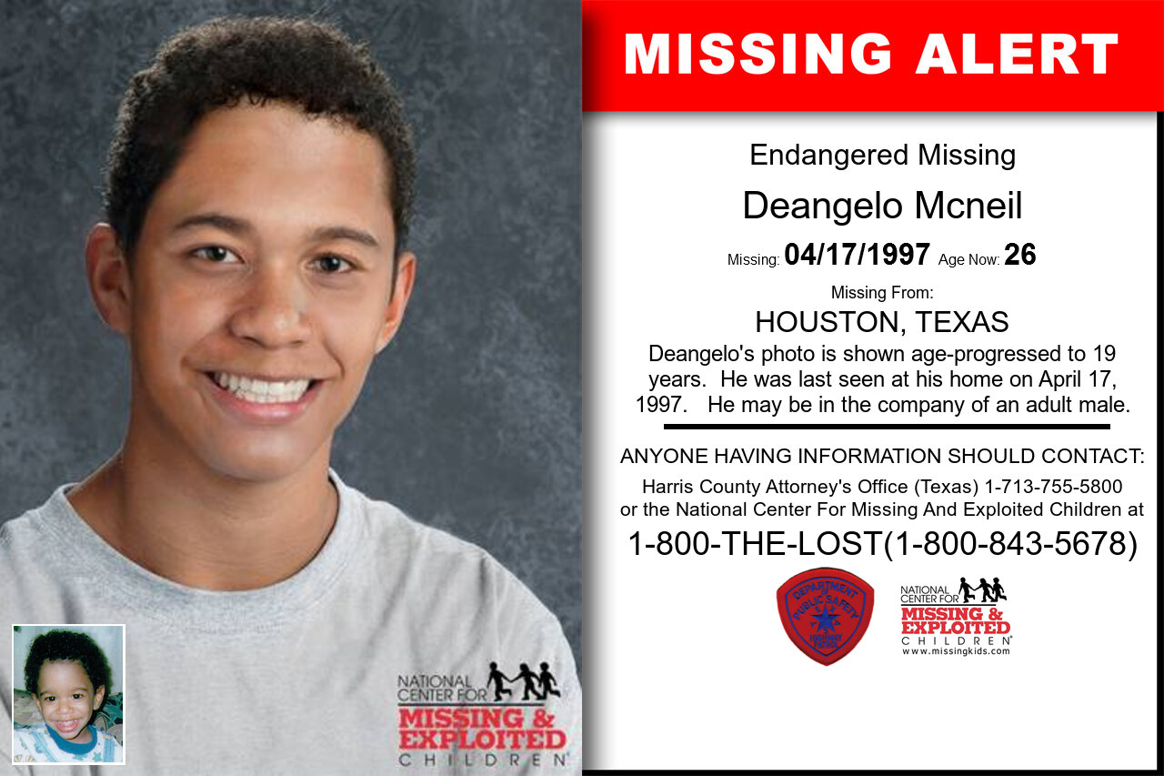 Deangelo_Mcneil missing in Texas