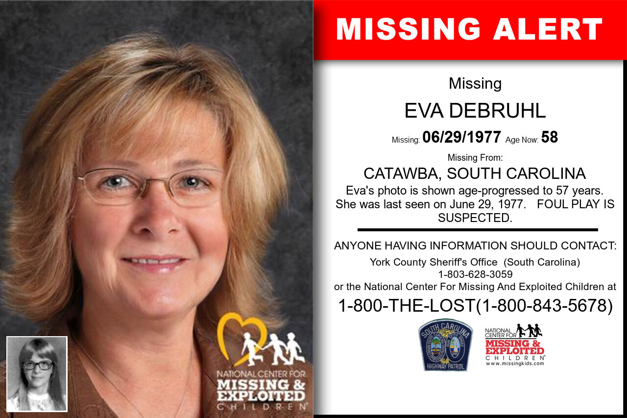 EVA_DEBRUHL missing in South_Carolina