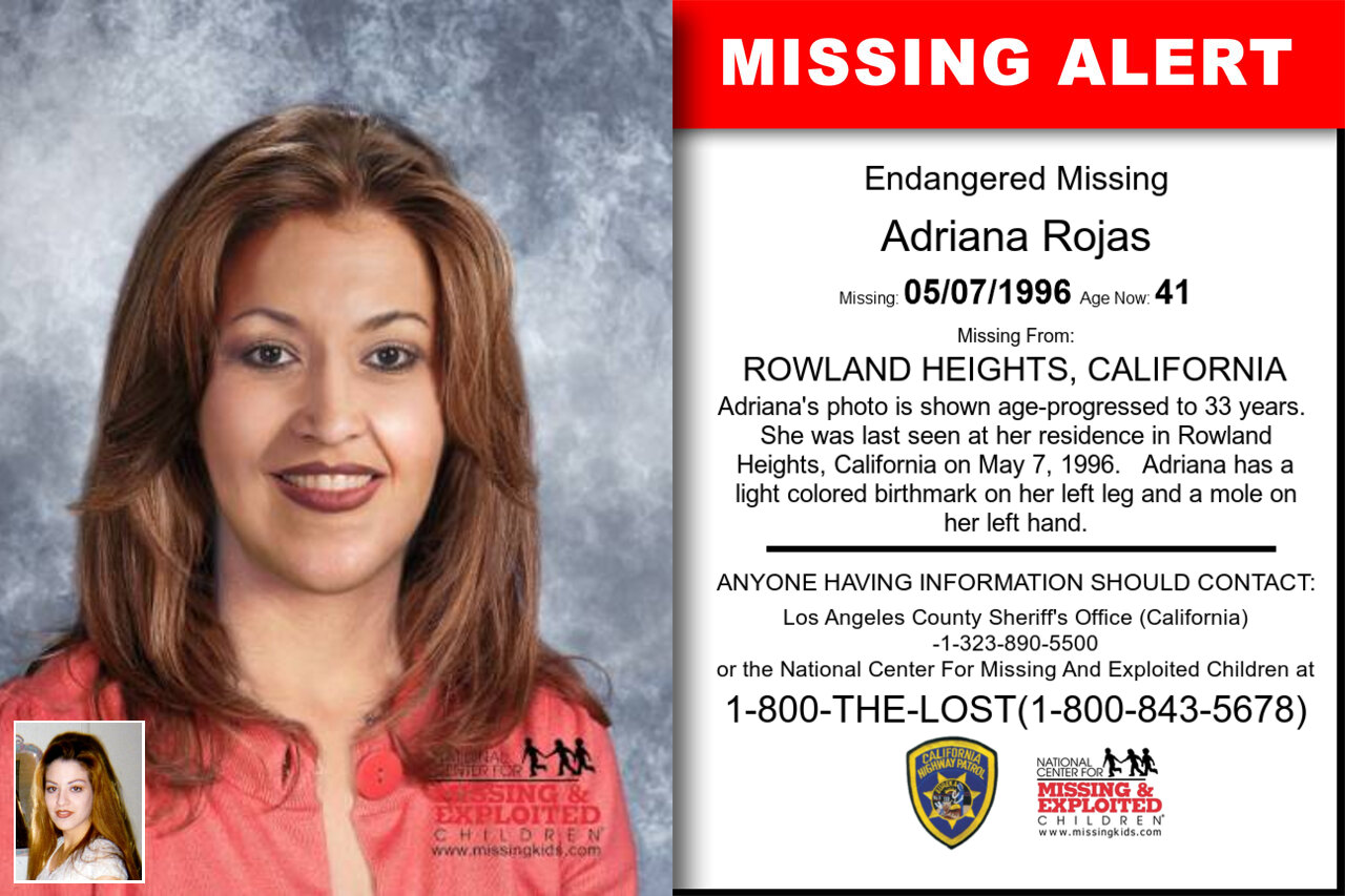 Adriana_Rojas missing in California