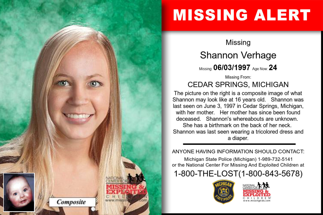 Shannon_Verhage missing in Michigan