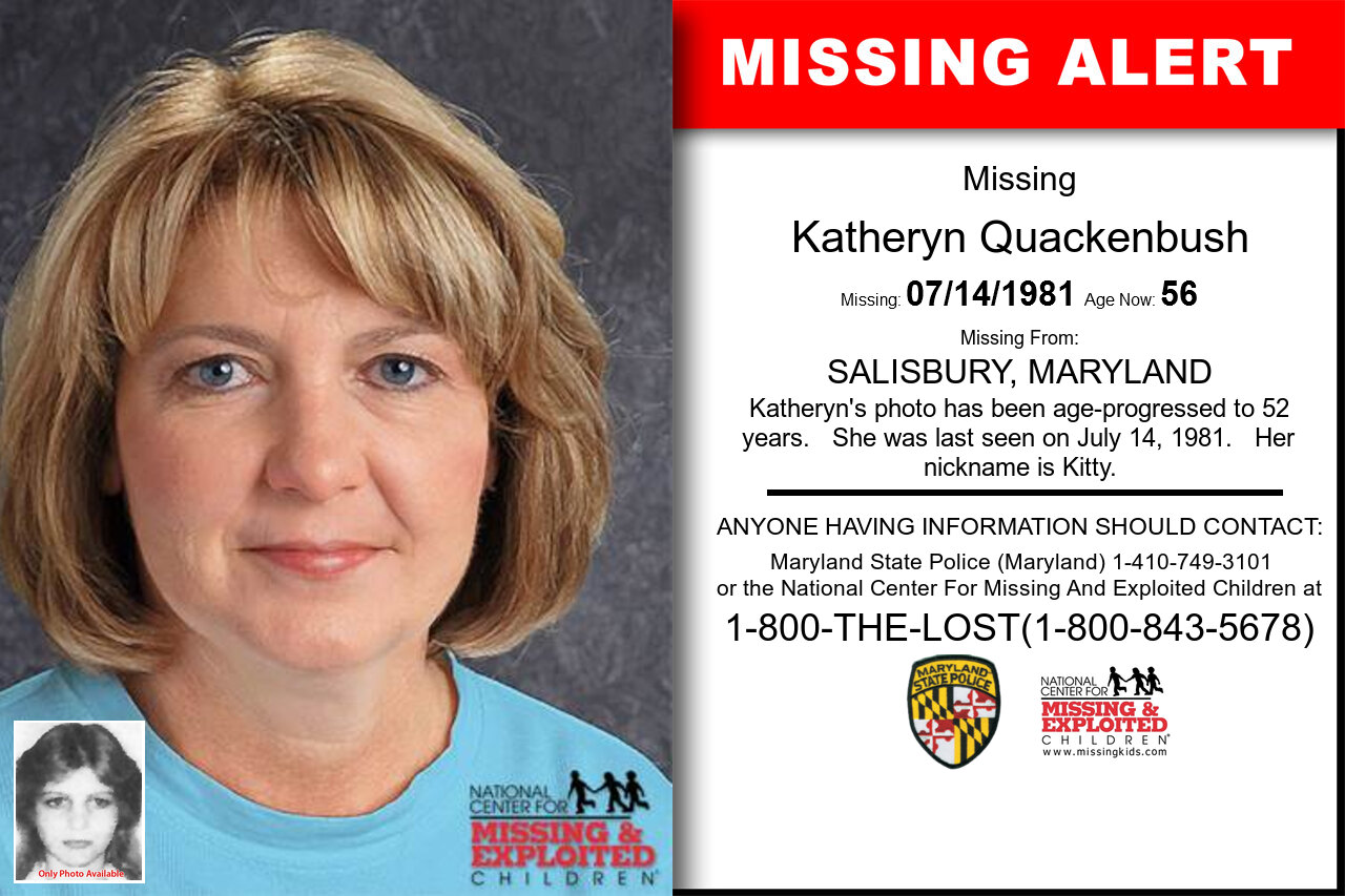 KATHERYN_QUACKENBUSH missing in Maryland
