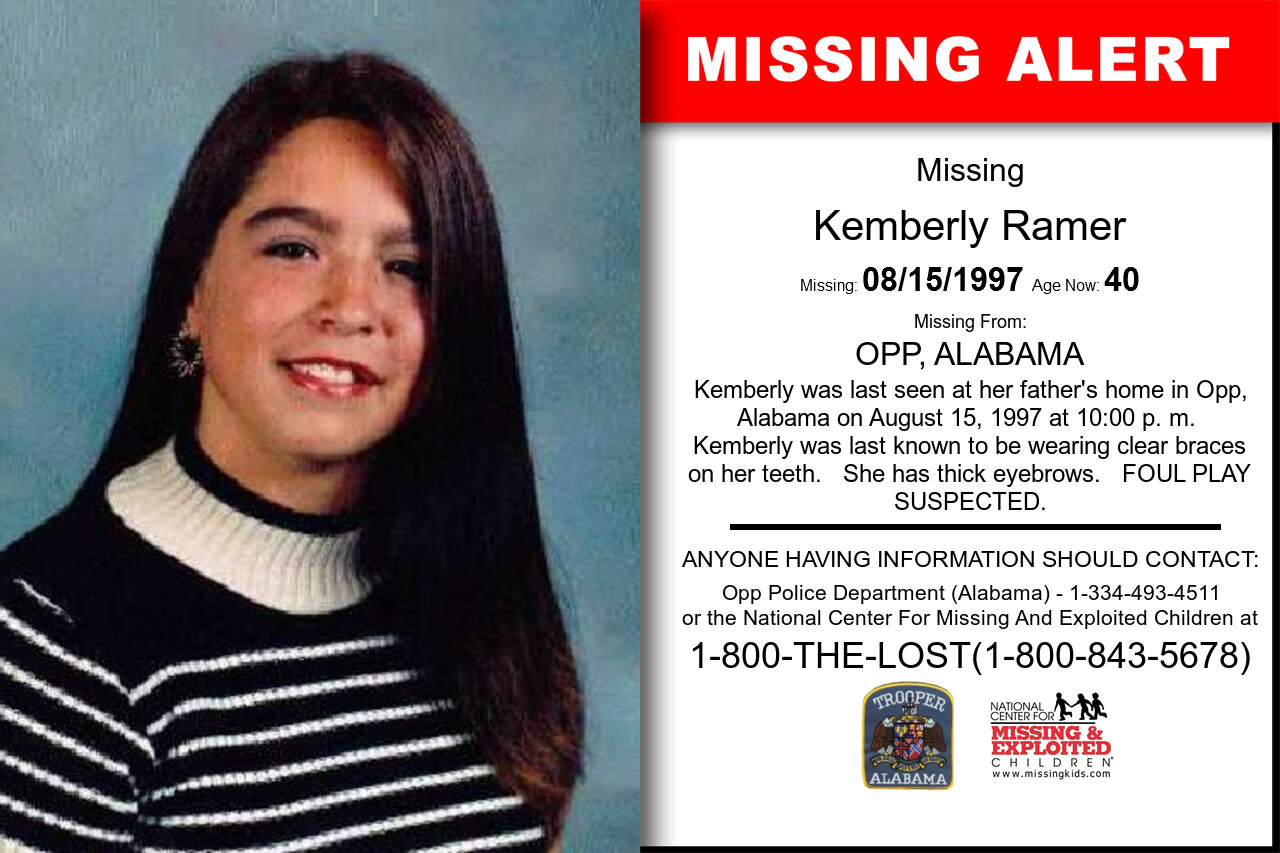 KEMBERLY_RAMER missing in Alabama