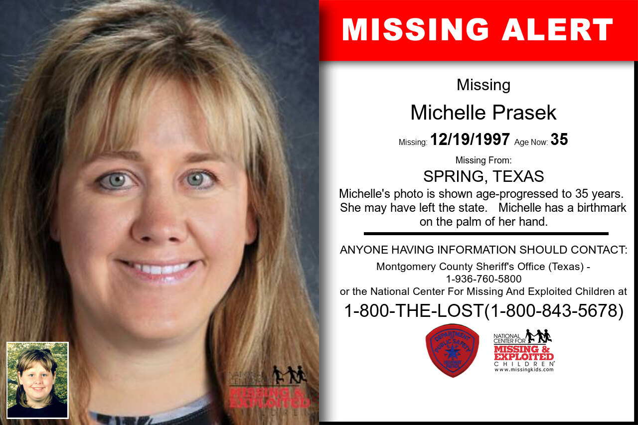 Michelle_Prasek missing in Texas