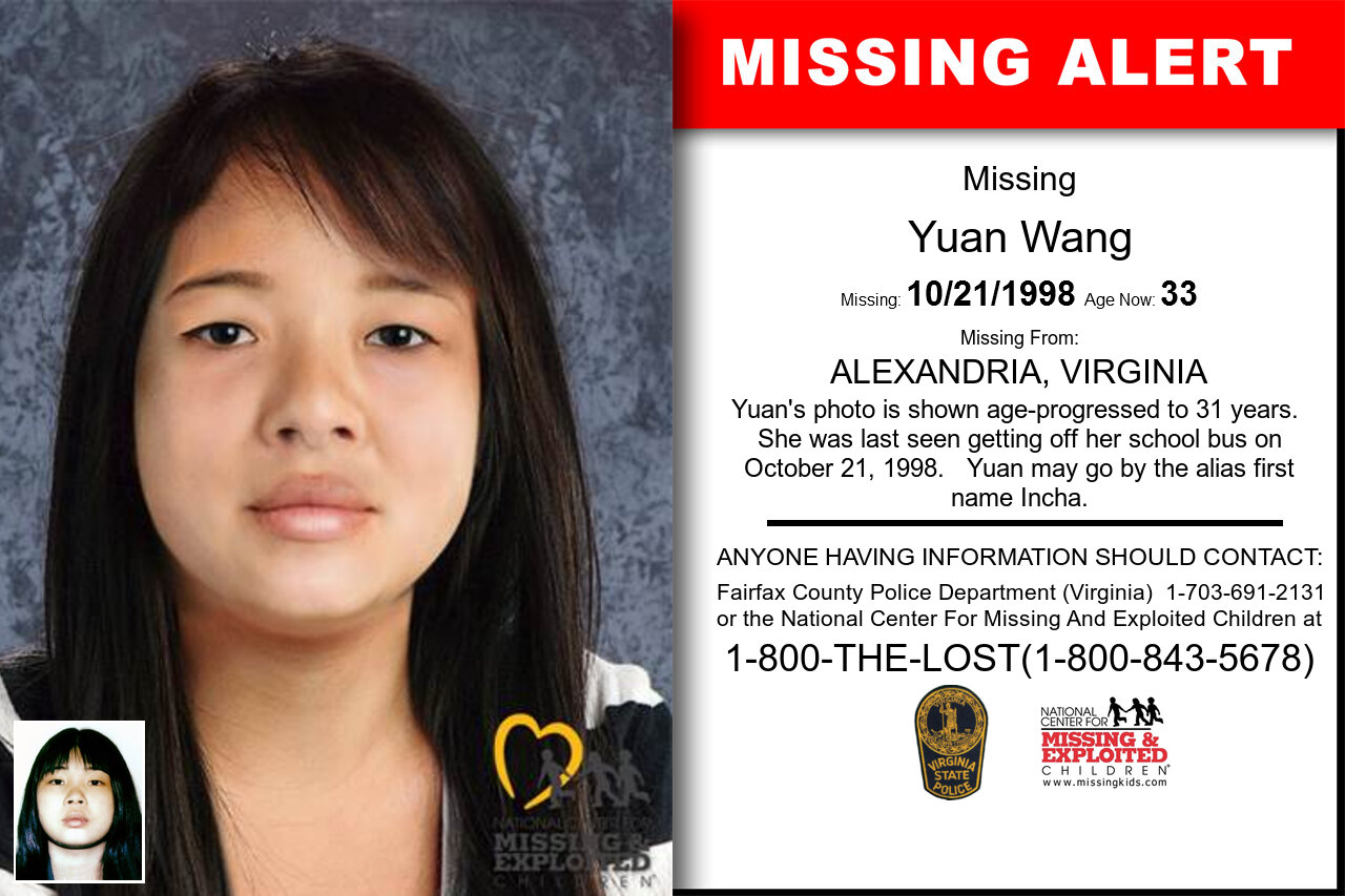 YUAN_WANG missing in Virginia