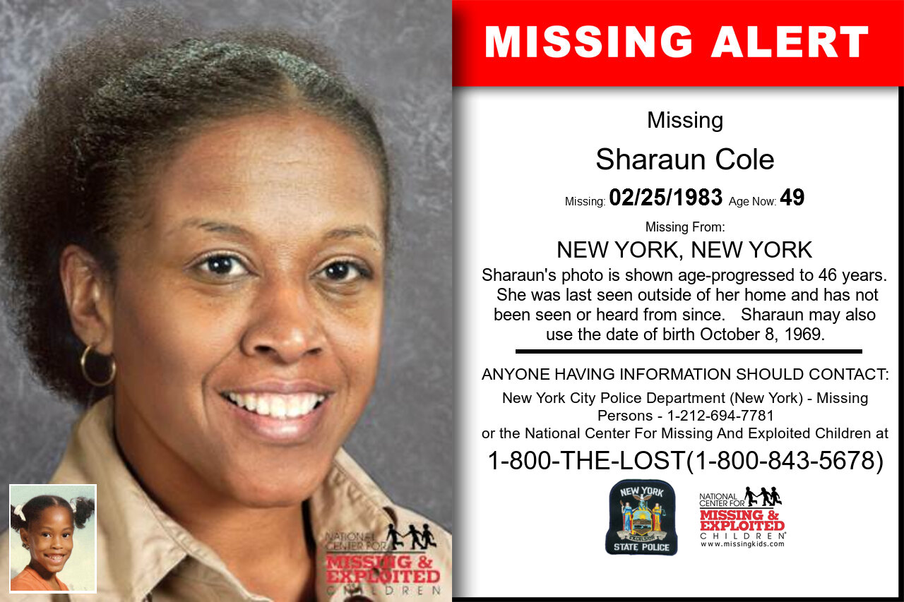 SHARAUN_COLE missing in New_York