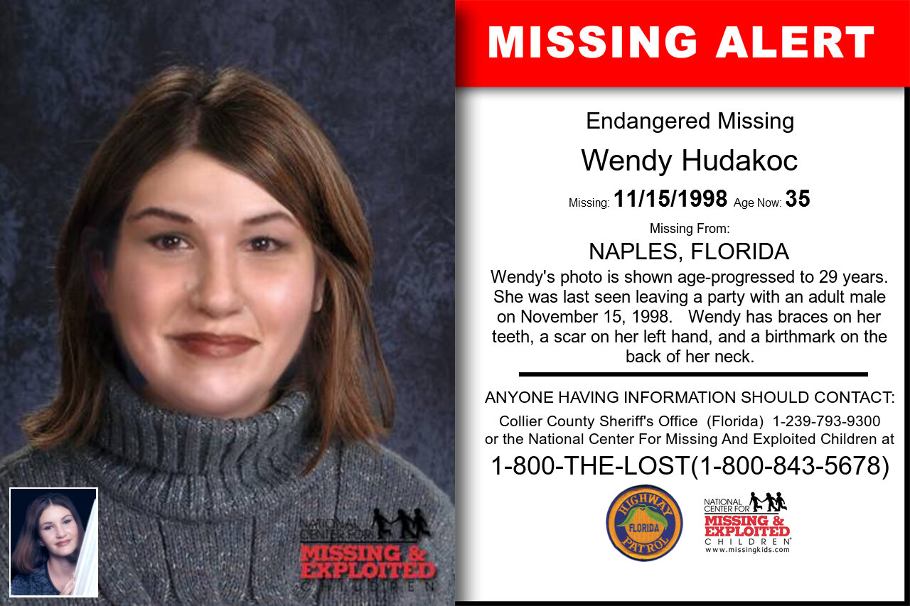 WENDY_HUDAKOC missing in Florida