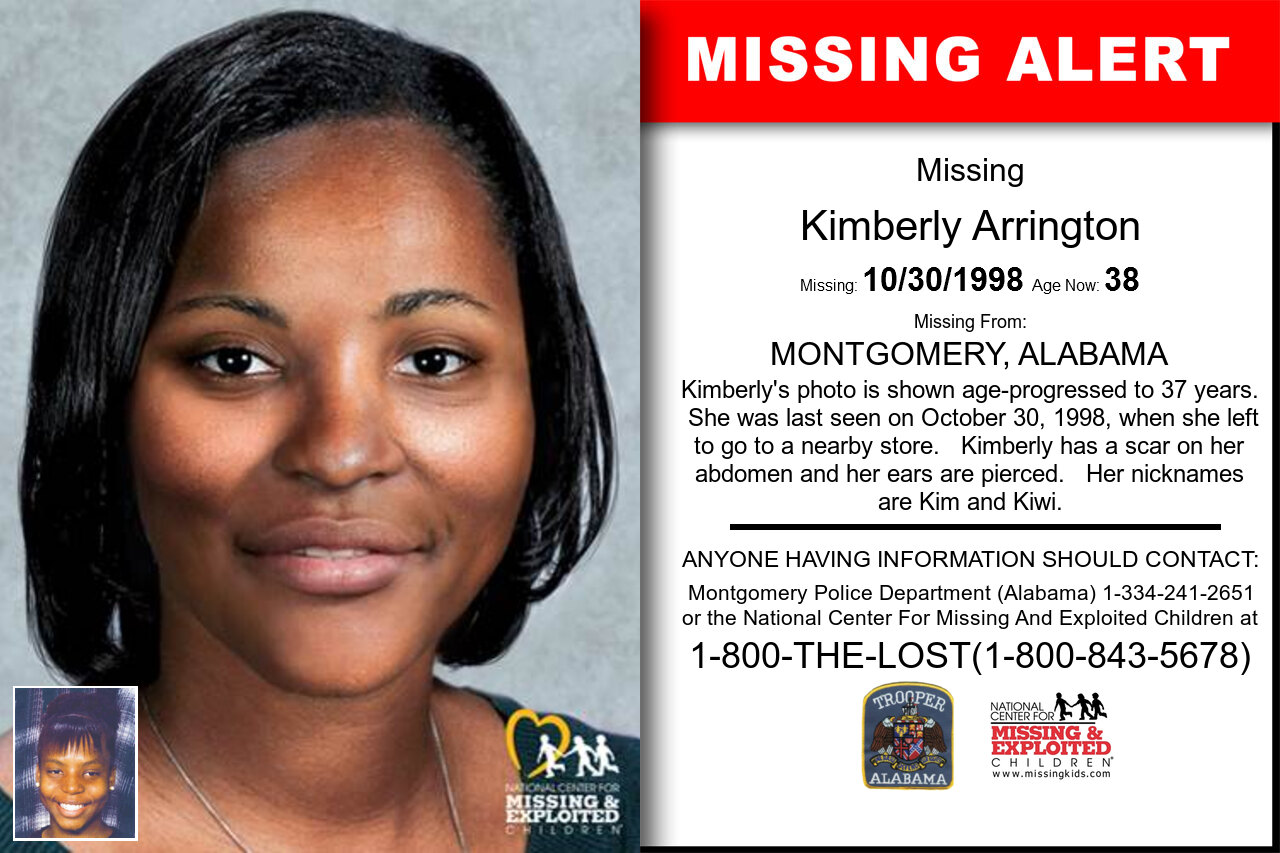 KIMBERLY_ARRINGTON missing in Alabama