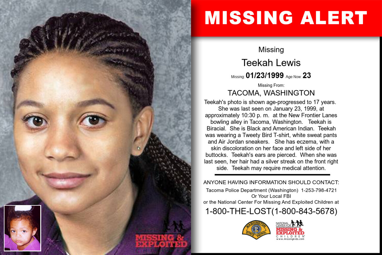 TEEKAH_LEWIS missing in Washington