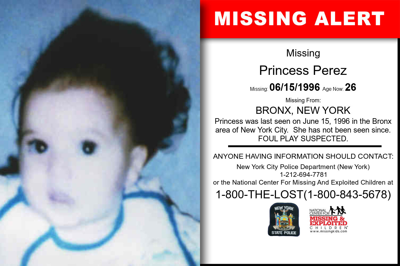 PRINCESS_PEREZ missing in New_York
