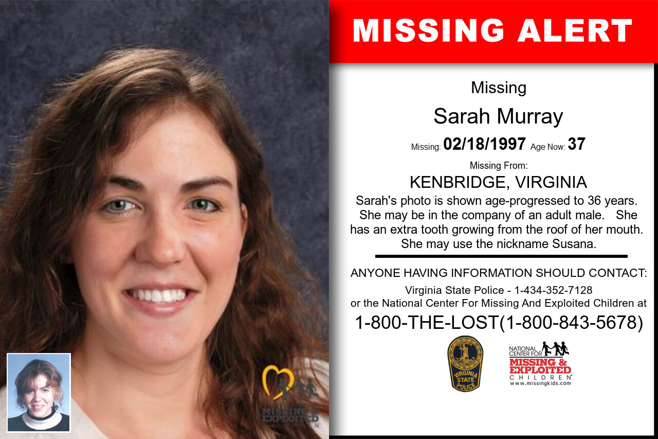 SARAH_MURRAY missing in Virginia