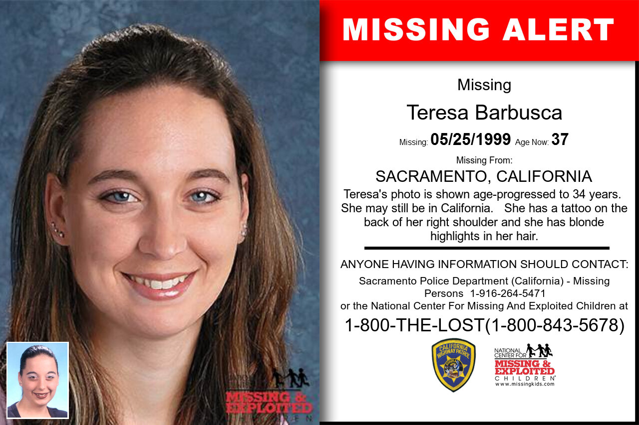 Teresa_Barbusca missing in California