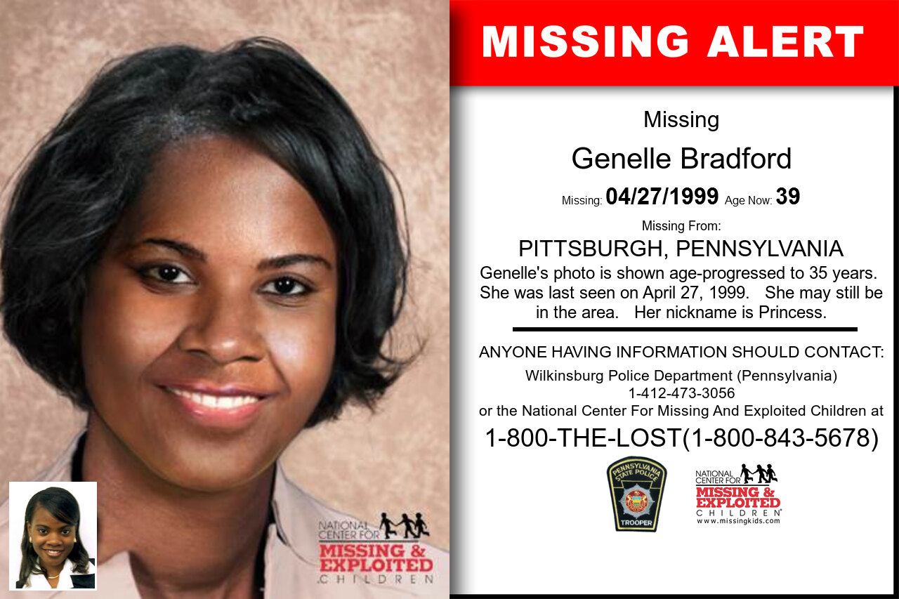 GENELLE_BRADFORD missing in Pennsylvania