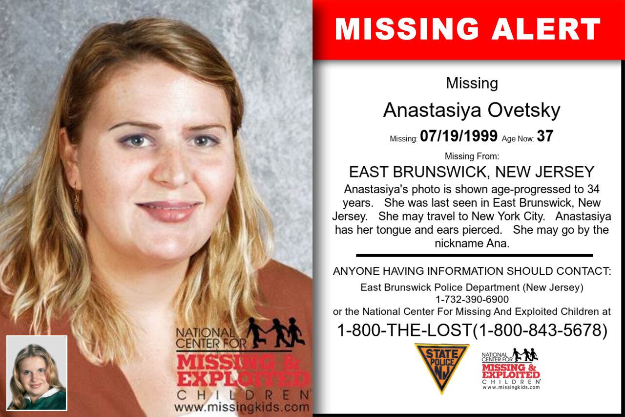 Anastasiya_Ovetsky missing in New_Jersey