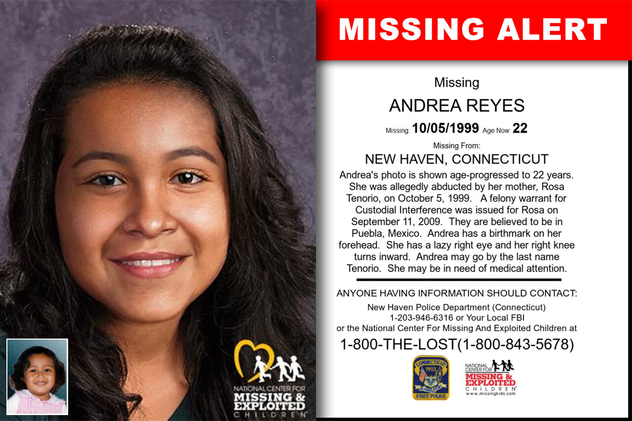 ANDREA_REYES missing in Connecticut