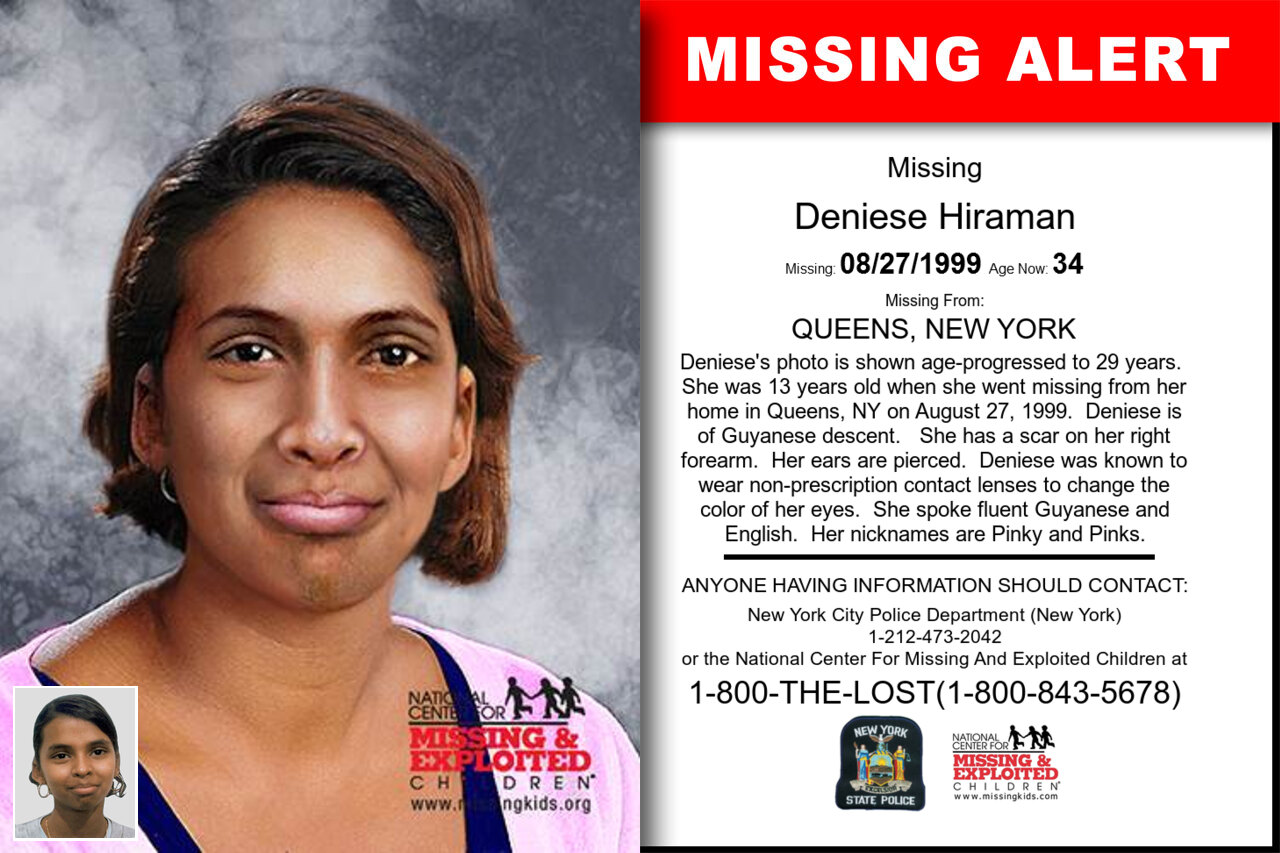 DENIESE_HIRAMAN missing in New_York