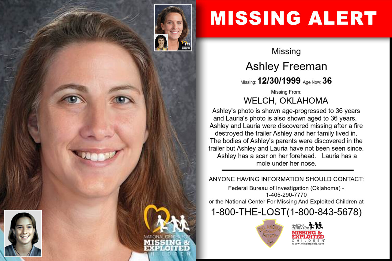 Ashley_Freeman missing in Oklahoma