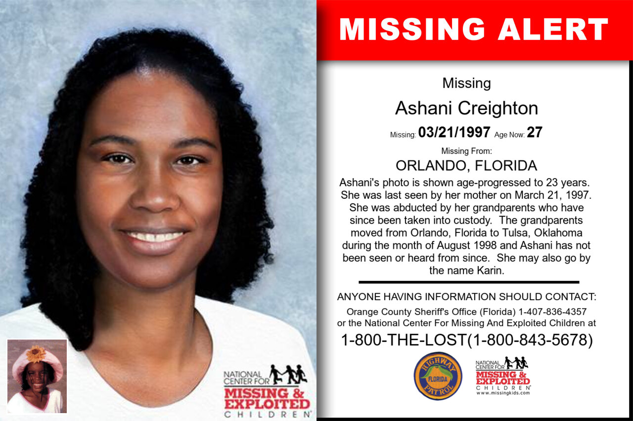ASHANI_CREIGHTON missing in Florida