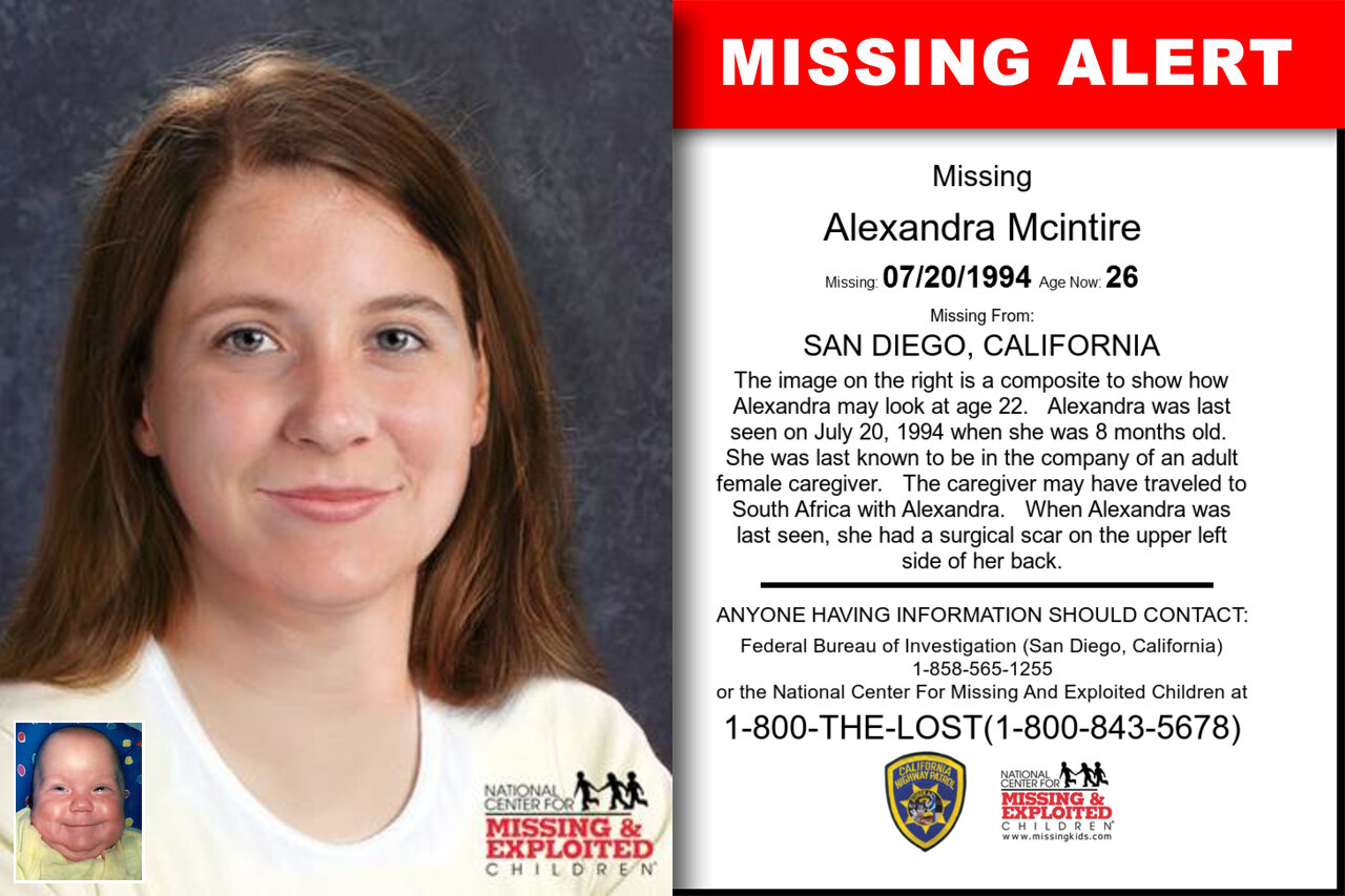 ALEXANDRA_MCINTIRE missing in California
