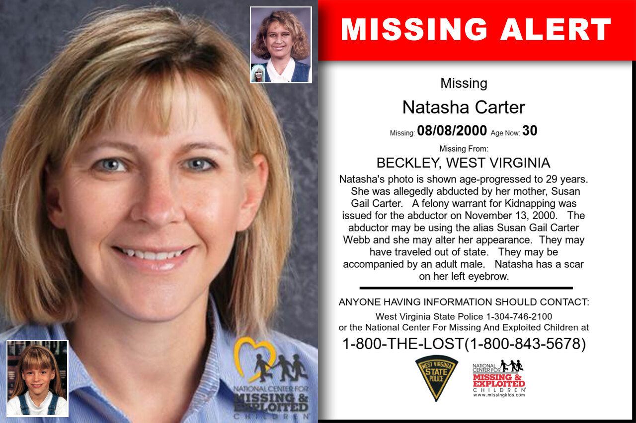 NATASHA_CARTER missing in West_Virginia