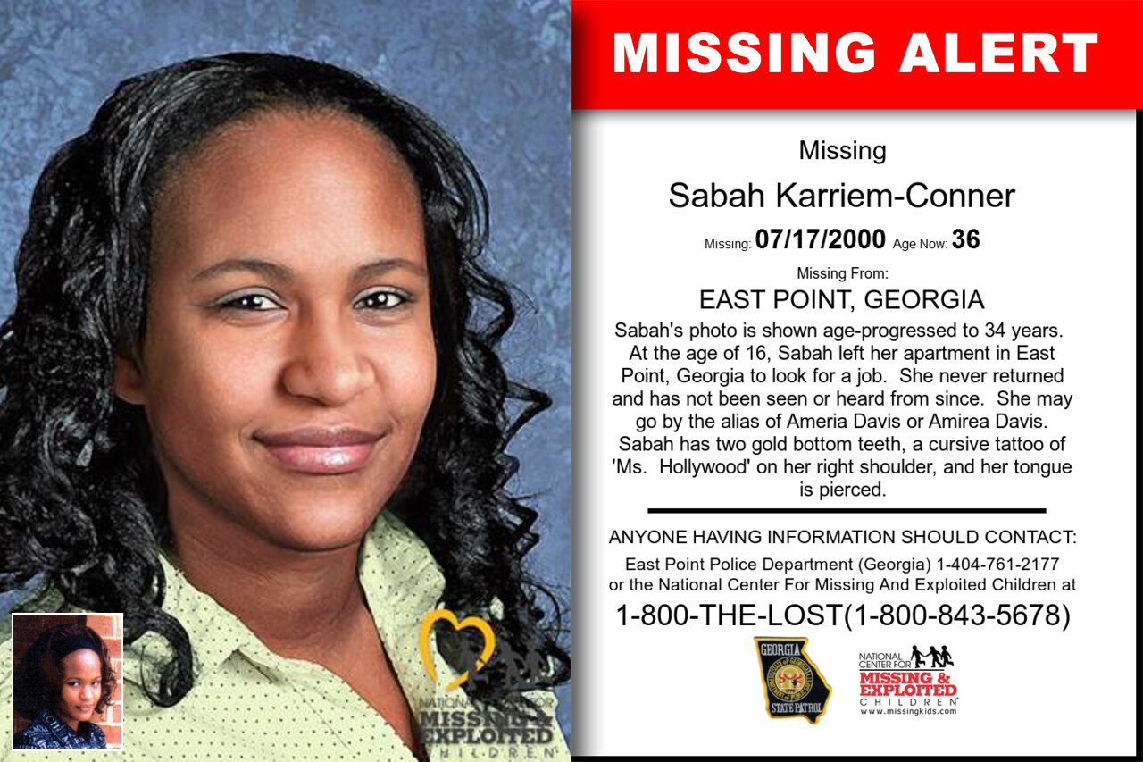 SABAH_KARRIEM-CONNER missing in Georgia