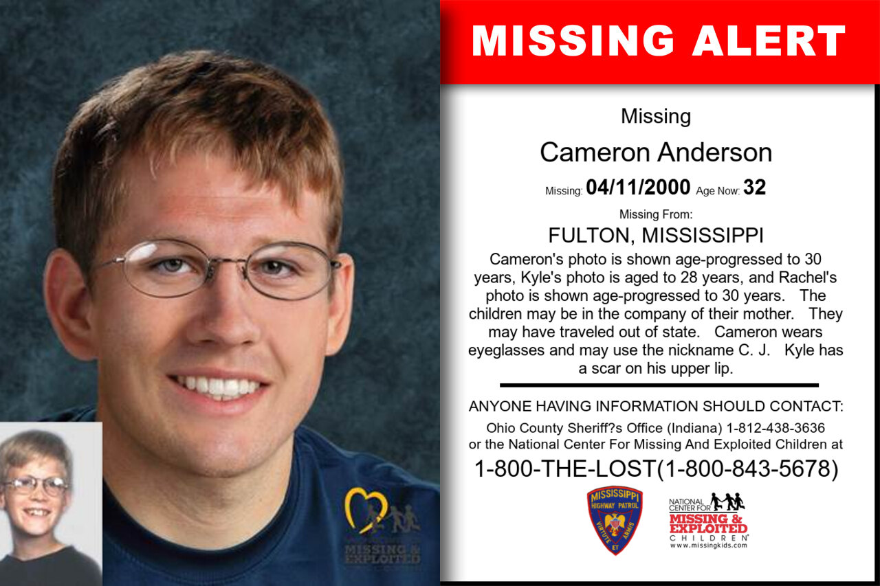 CAMERON_ANDERSON missing in Mississippi