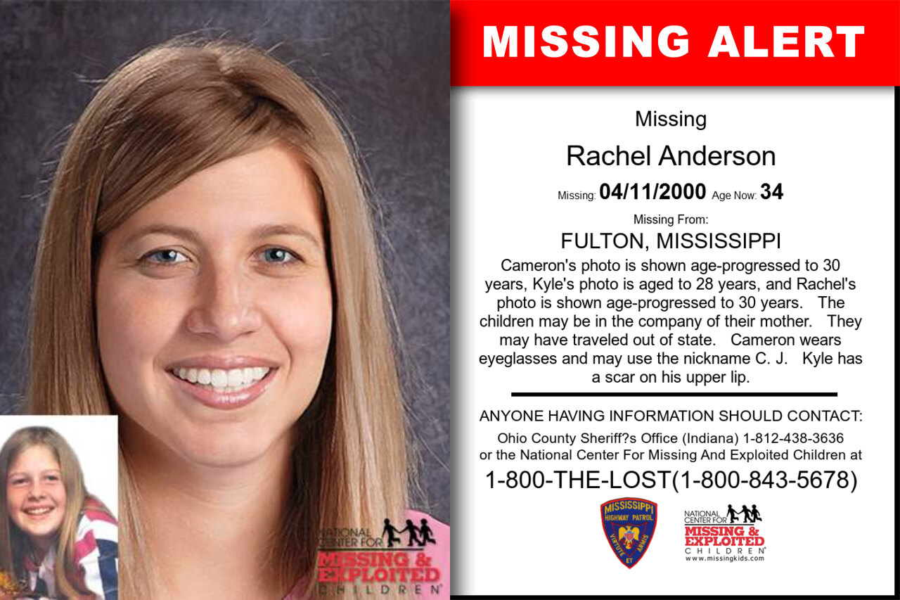 RACHEL_ANDERSON missing in Mississippi