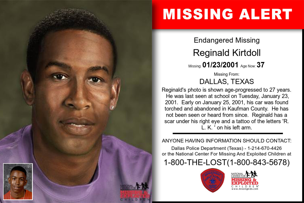 Reginald_Kirtdoll missing in Texas