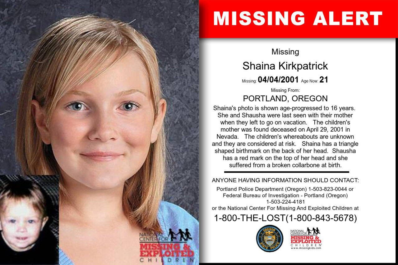 Shaina_Kirkpatrick missing in Oregon