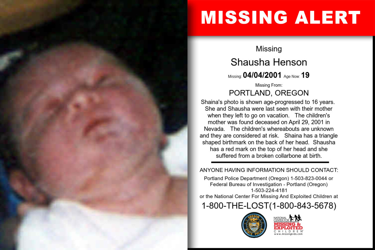 Shausha_Henson missing in Oregon