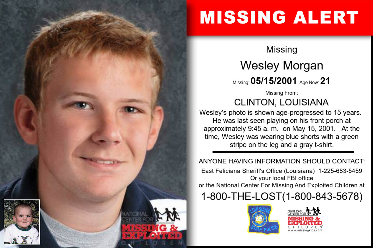 Wesley_Morgan missing in Louisiana